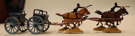 Verschiedene Hersteller: Ammunition team at the gallop, 1870 bis 1871