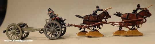 Verschiedene Hersteller: Geschützzug im Galopp, 1870 bis 1871