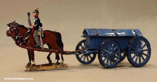 Kieler Zinnfiguren: Granatenwagen im Halt, 1870 bis 1871