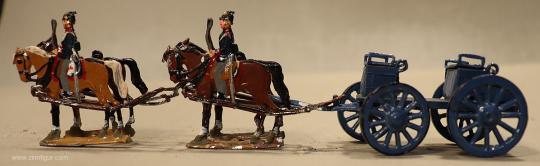 Verschiedene Hersteller: Munitionswagen im Halt, 1870 bis 1871