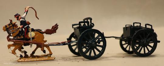 Kieler Zinnfiguren: Munitionszug im Galopp, 1871 bis 1918