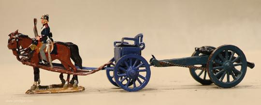 Verschiedene Hersteller: Geschützzug im Halt, 1870 bis 1871