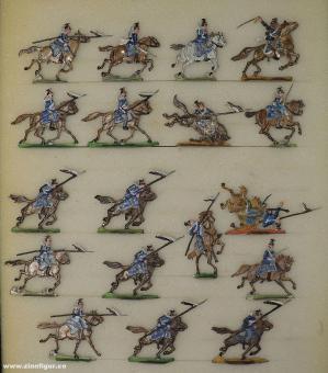 Verschiedene Hersteller: 16. Ulanen im Angriff, 1870 bis 1871
