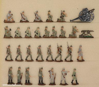 Verschiedene Hersteller: Artillerie und Maschinengewehrtruppe, 1914 bis 1918