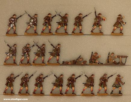 Diverse Hersteller: Highland Infanterie im Angriff, 1916 bis 1918