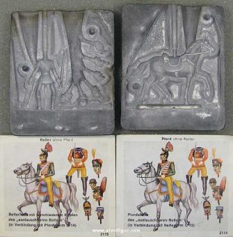 Airfix: Two molds: riders with various replacement heads and horse, 1871 bis 1913