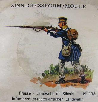 SCAD: Gießform: Infanterist, Schlesische Landwehr, 1813 bis 1815