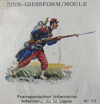 SCAD: Casting mold: Line infantryman, proceeding, 1870 bis 1871