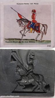 Airfix: Molds: Hussar on horseback at a trot, 1871 bis 1913