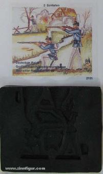Airfix: Mold: Prussian infantry under fire, 1871 bis 1913
