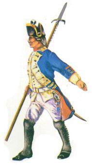 Prince August: Gießform: Unteroffizier um 1750, 1712 bis 1786