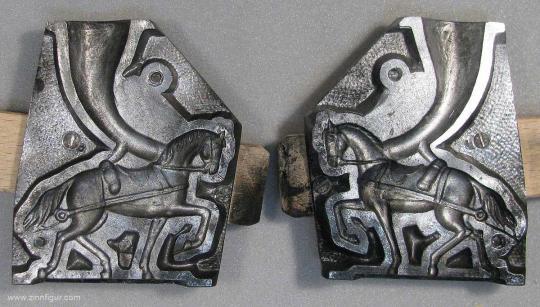 Schneider/Replika: Aluminiumform: Vorspannpferd - Zugpferd, ab 1700
