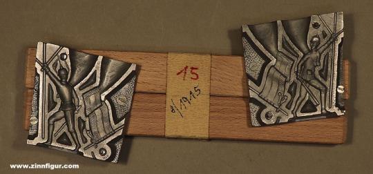 Schneider/Replika: Gießform: Infanterist mit Fahne, 1871 bis 1914