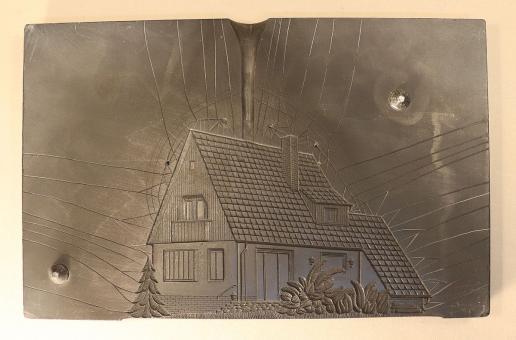 Berliner Zinnfiguren: Slate mold: family house (one-sided), 1930 bis 2019