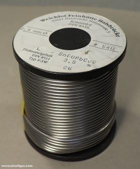 Diverse Hersteller: Weichlot, Röhrenlot DIN 8516, Sn60PbCu2 (1 kg Rolle)