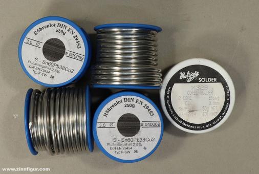 Diverse Hersteller: Restposten: Weichlot, Röhrenlot (5 Rollen, ca. 1 kg)