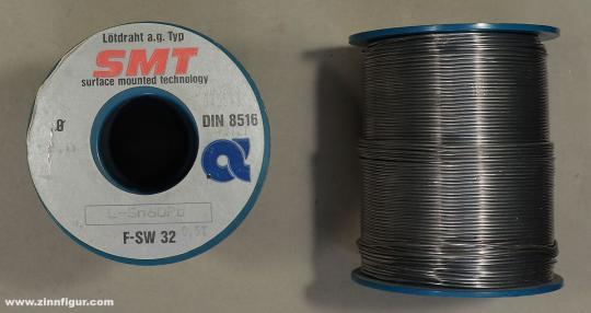 Diverse Hersteller: Restposten: Lötdraht (Sn60PbP, 1 Rolle, ca. 1 kg).