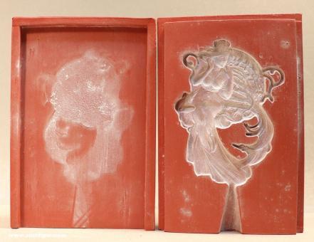 Diverse Hersteller: Mold: Art Nouveau lady - ornament