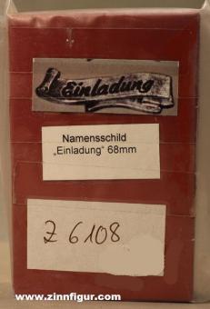 """Diverse Hersteller: Gießform: Namensschild """"Einladung"""""""