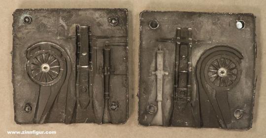 SCAD: Casting mold: Gribeauval gun, 1789 bis 1815