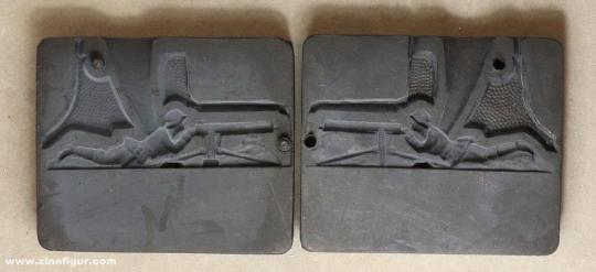 Airfix: Casting mold: soldier with a light machine gun, 1919 bis 1933