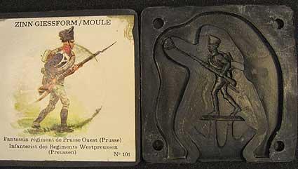 SCAD: Casting mold: Prussian infantryman, 1789 bis 1815