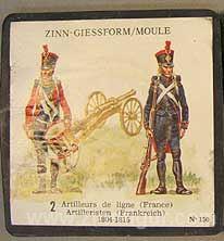 SCAD: Gießform: Zwei Artilleristen, 1789 bis 1815