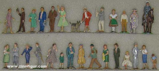 Diverse Hersteller: Zivilfiguren um 1950, um 1950