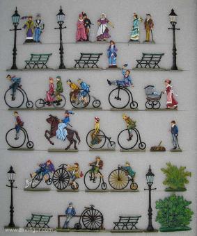 Berliner Zinnfiguren: Hochradrennen, 1871 bis 1918