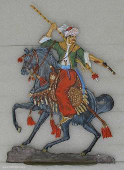 Krannich: Mameluk im Kampf, um 1790