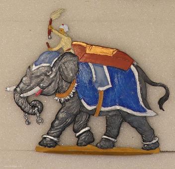 Rieger: Elefant der Moghulzeit, 1800 bis 1900