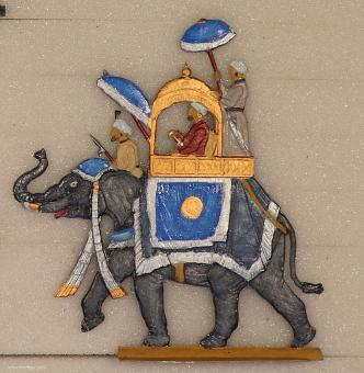 Rieger: Elefant des Maharadscha, 1800 bis 1900