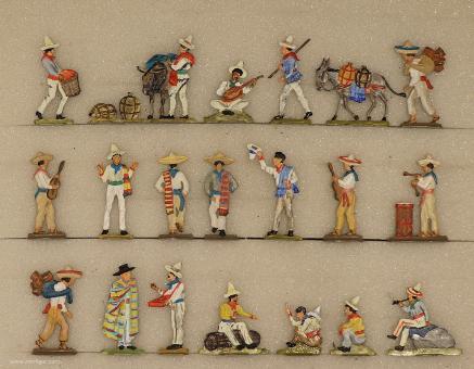 Diverse Hersteller: Mexikanisches Straßenleben, 19. Jh.