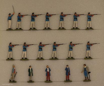 Diverse Hersteller: Die Exekution Kaiser Maximilians von Mexiko, 1867