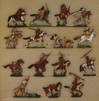 Verschiedene Hersteller: Indianer bei Little Big Horn 1876, 19. Jh.