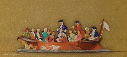 KLIO: Bootsfahrt in Rheinsberg, 1739