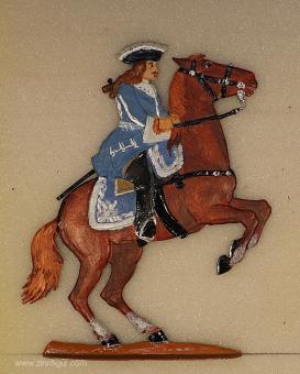 Wenglewski: Dragoneroffizier des Blauen Königs, um 1700