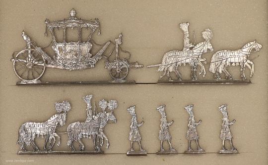Diverse Hersteller: Fürstliche Prunkkutsche, um 1700 bis 1786