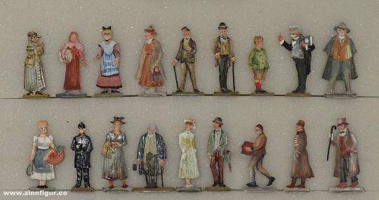 Verschiedene Hersteller: Straßenleben um 1900, 1871 bis 1918