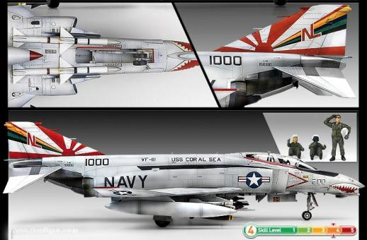 "Academy 12232 1:48th scale F-4B Phantom VF-111 /""Sundowners/"""