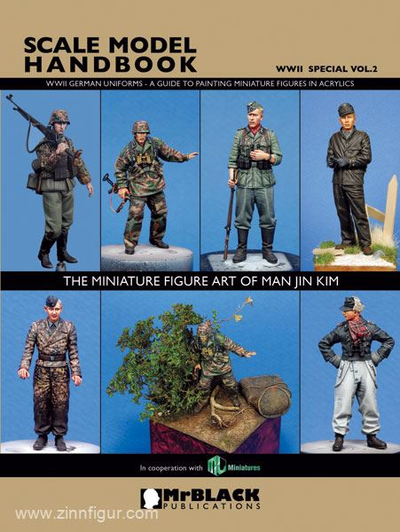 Jin Kim, M  Scale Model Handbook  WWII Special  Volume 2: WWII German  Uniforms  A Guide to Painting Figures in Acrylic  The Miniature Figure Art  of
