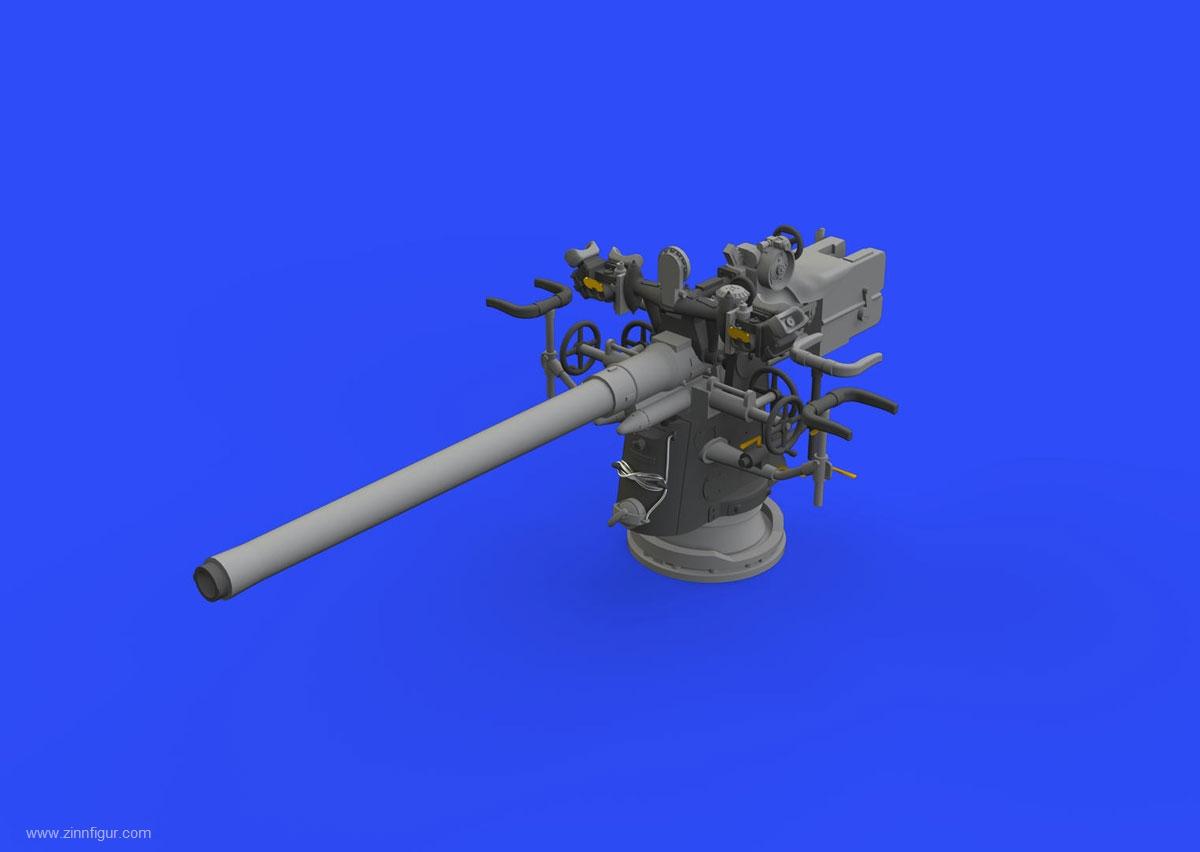 Deutsche 8,8cm U-Boot Kanone von Eduard in 1//48 für Trumpeter