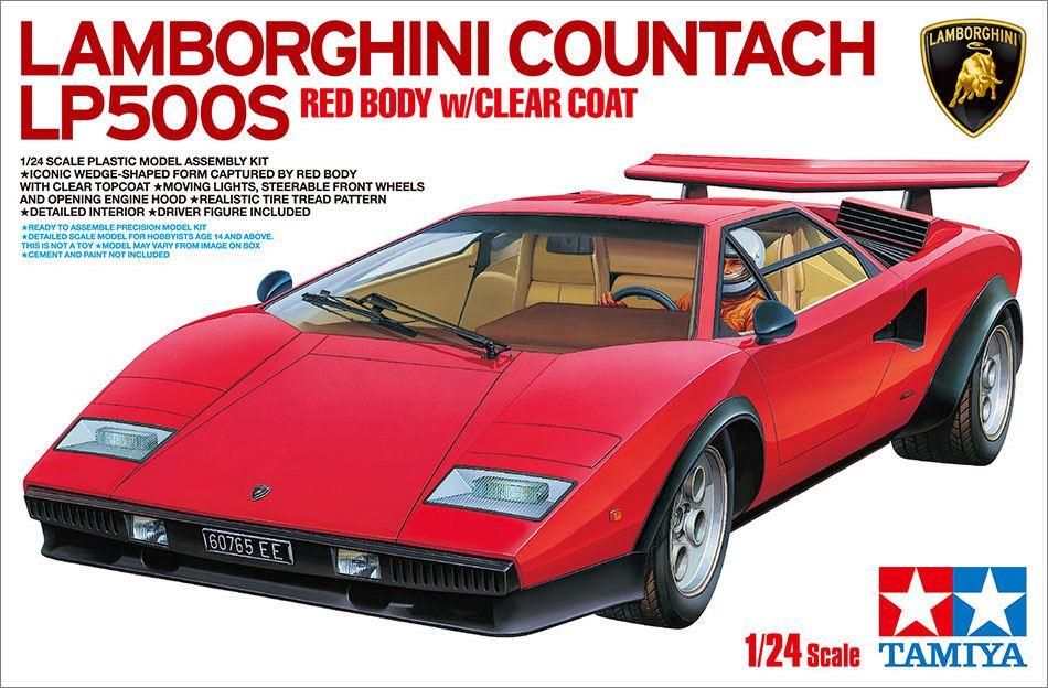 Berliner Zinnfiguren Lamborghini Countach Lp500s Rot Lackiert