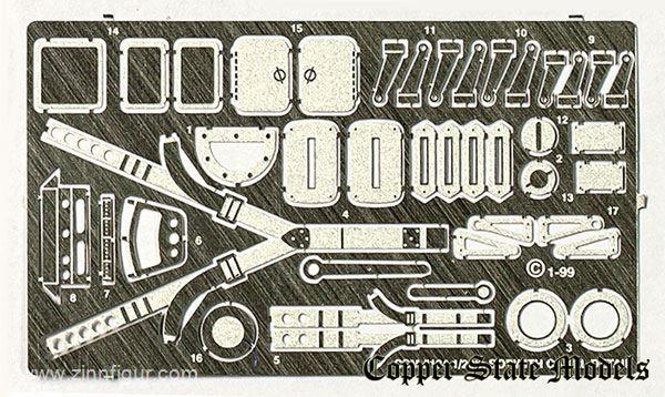1:28 Copper State Models #U28-134 SOPWITH CAMEL PE Detail Set.