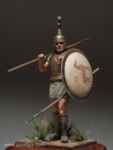 Zinnfigur 54mm GR18 Athener Hoplit 1:32 Maßstab