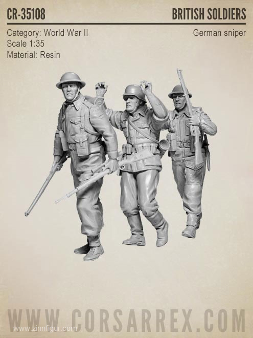 Berliner Zinnfiguren | British Soldiers with Captured German Sniper |  purchase online